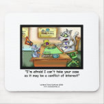 Funny Cat & Lawyer Funny Mouse Pad