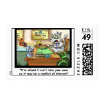 Funny Cat & Lawyer Funny Postage Stamps Stamps