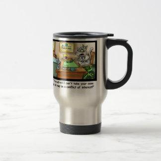 Funny Cat & Lawyer Funny Travel Mug