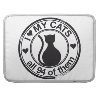 Funny cat logo sleeve for MacBooks