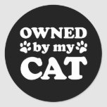 Funny Cat Lover Gift Round Stickers