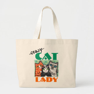Funny Cat Lover's Jumbo Tote Bag