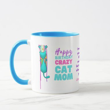 Funny CAT MOM Birthday From The HUSBAND To WIFE Mug
