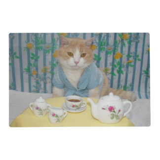 Funny Cat Morning Coffee Breakfast Placemat