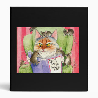 Funny Cat & Mouse Binder