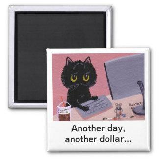 Funny Cat Mouse Magnet creationarts Lisa R Adams