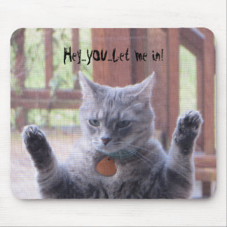 Funny cat mouse pad. mouse pad