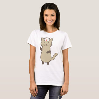 Funny Cat Nurse Cartoon - Cute Meow T-Shirt