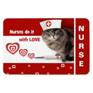 Funny Cat. Nurses Day / Nurses Week Gift Magnet Magnet
