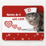 Funny Cat. Nurses Day / Nurses Week Gift Mousepad