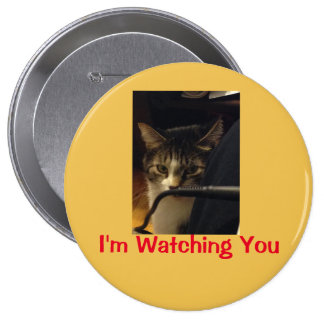 Funny Cat Photo Button