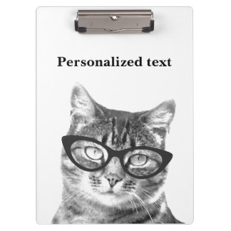 Funny cat photo clipboard for pet doctor
