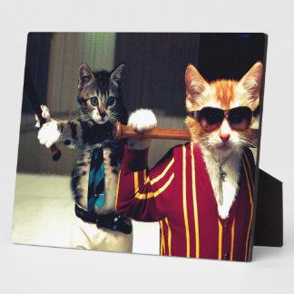 Funny cat photo plaques