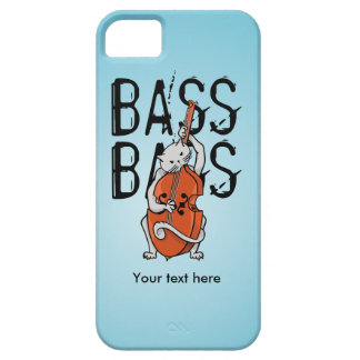 Funny Cat Playing a Double Bass iPhone SE/5/5s Case