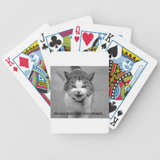 funny cat playing card deck