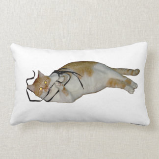 Funny Cat playing with string Pillow