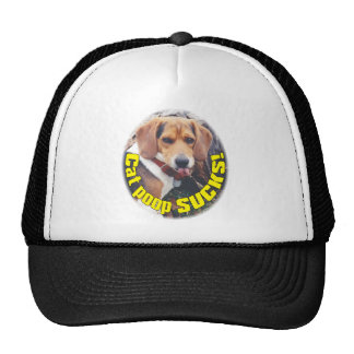 Funny Cat Poop Sucks Dog Sticking Tongue Out Hat