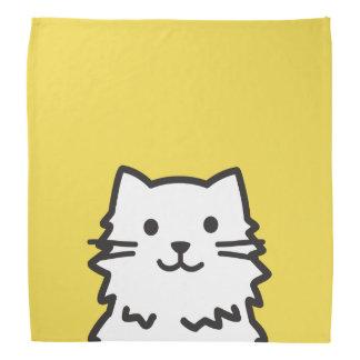 Funny cat portrait bandana
