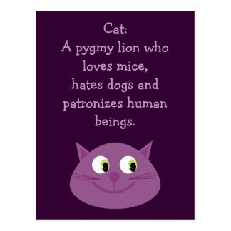Funny Cat Quote Cute Customizable Charity Postcard