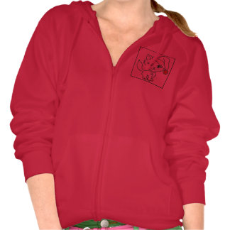 Funny Cat Quote Red Ladies holiday hoodie