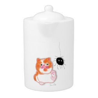 Funny cat series dishes teapot