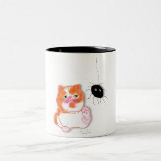Funny cat series service table mug