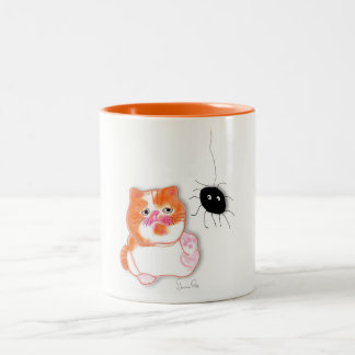 Funny cat series service table mug by ORDesigns.