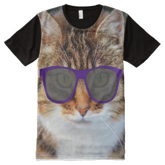 Funny Cat shirts with sunglasses