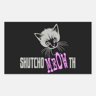 Funny Cat Shut Your MEOWth (dark) Stickers