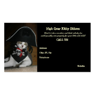 Funny Cat Sitting Double-Sided Standard Business Cards (Pack Of 100)