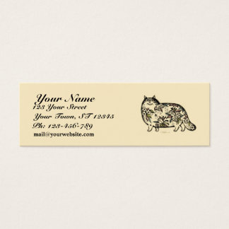 Funny Cat Skinny Business Card