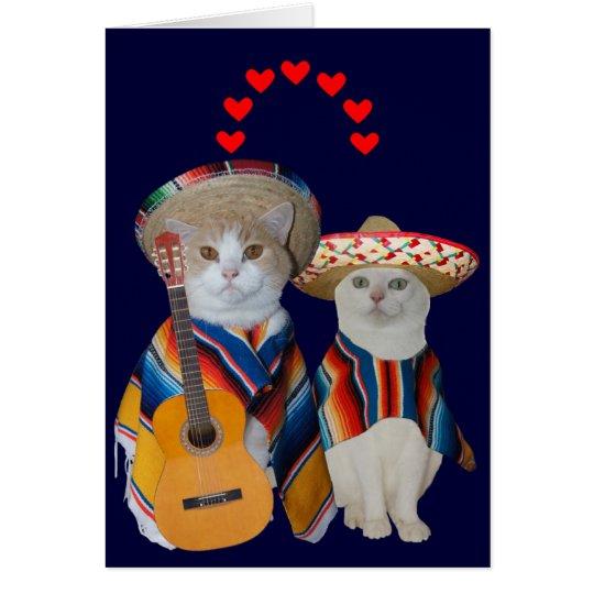 Funny Cat Spanish Valentine for Husband Card  Zazzlecom