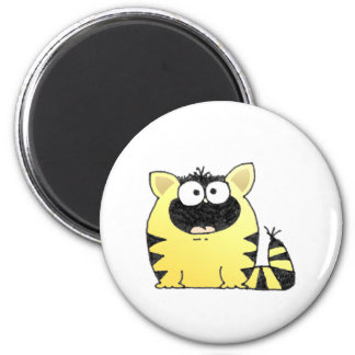 Funny Cat Surprise 2 Inch Round Magnet