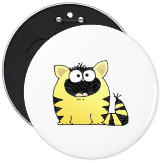 Funny Cat Surprise 6 Inch Round Button
