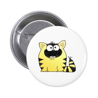 Funny Cat Surprise 2 Inch Round Button