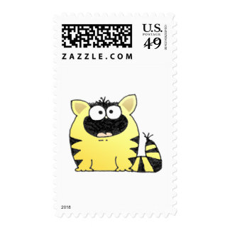 Funny Cat Surprise Postage Stamp