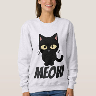 Funny Cat T-shirts, MEOW Sweatshirt