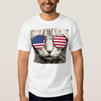 Funny Cat T-shirts, Patriotic, Sunglasses T Shirt