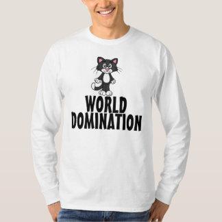 Funny Cat T-shirts, World Domination T-Shirt