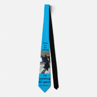 funny cat tongue remote KC sports tie