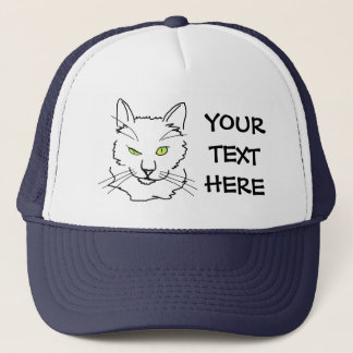 Funny Cat Trucker Hat