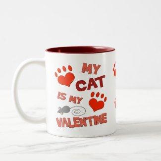 Funny Cat Valentine's Day Mug mug