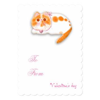 Funny cat Valentine's Love invitation. Card