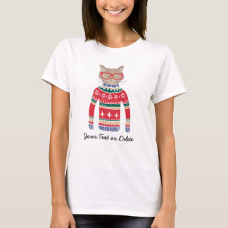 Funny Cat Wearing Glasses, Ugly Christmas Sweater
