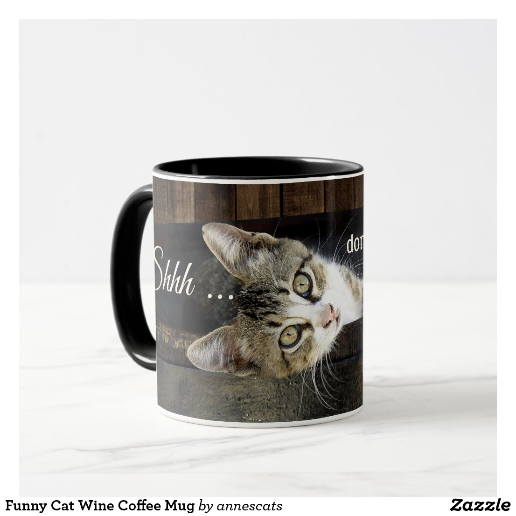 Funny Cat Wine Coffee Mug