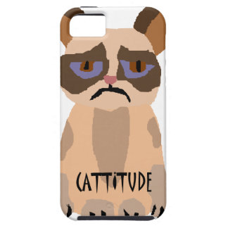 Funny Cat with Cattitude Art iPhone 5 Cover