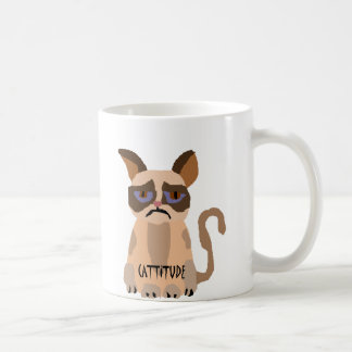Funny Cat with Cattitude Art Coffee Mug