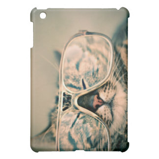 Funny Cat with Glasses Cover For The iPad Mini