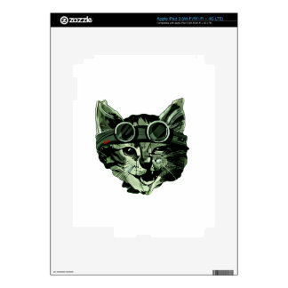 Funny Cat with Glasses iPad 3 Decal
