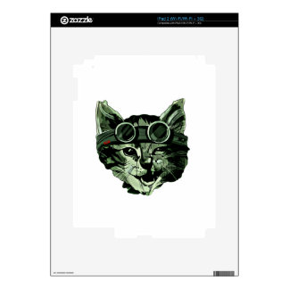Funny Cat with Glasses Skins For iPad 2